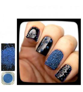 blue caviar glitter nail...