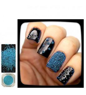light blue caviar glitter...