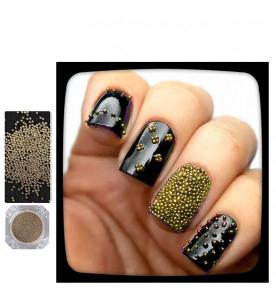 light gold caviar glitter...