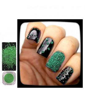 light green caviar glitter...
