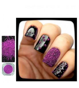 pink caviar glitter nail...