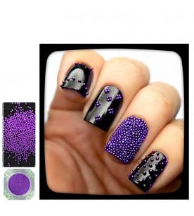 2-violett caviar glitter...