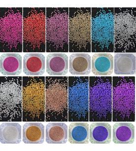 12x caviar glitter nail art...