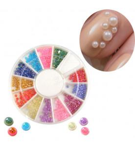 pearl rhinestones mix Nail Art