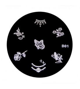 B01 Stamping Plate Nailart...