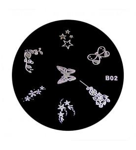 B02 Stamping Plate Nailart...